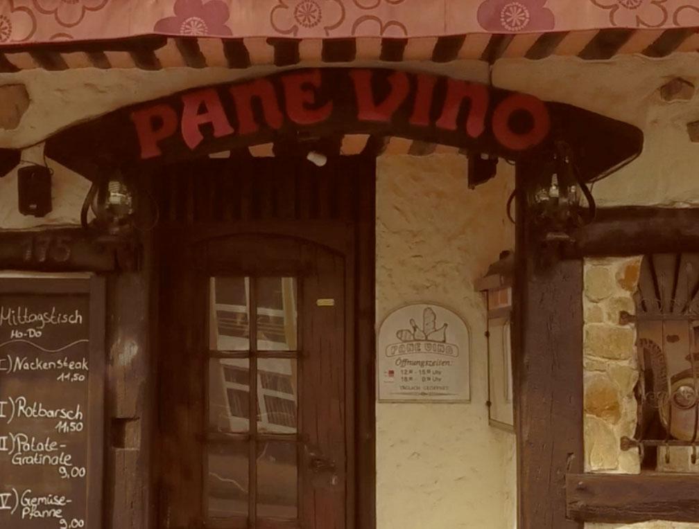 Italienisches Restaurant Pane Vino von außen